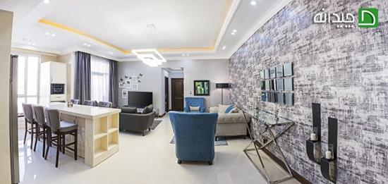 طراحی داخلی خانه کامرانیه، خانه ای سرشار از آرامش!